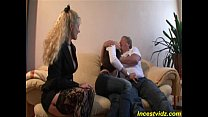 Charming lovely daughter fucking with her father