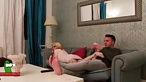 A blondie with hot mouth and her husband on the...