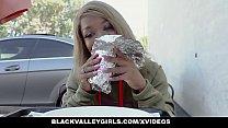 cute mocha teen takes a ride on a huge dick & Tease-X thumbnail