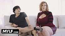 Lucky Stud Helps Horny Big Titted Milf With Some House Work And Meanwhile Fills Her Pussy With Cum