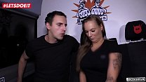 LETSDOEIT - German BBW Picked Up And Fucked In The Sex Bus thumbnail