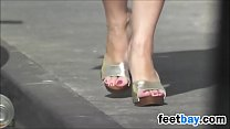 Sexy High Heels In Public Candid Video