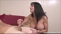 Brunette Milf Topless Handjob video