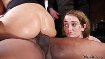 Bdsm orgy party with interracial anal thumbnail