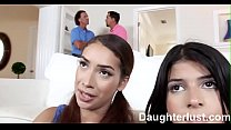 Gamer Teen Fucked By Older Dad   |DaughterLust.com Preview