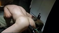 Hot 'n wet cumlube filled juicy booty deep, hard and very long machine fucking sloppy seconds style of a sissy faggot slut