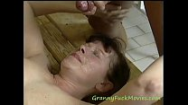 Hard pounding granny Mathilde Preview