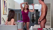 Horny Sarah and Lily bangs with a hot neighbor