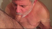 Silverdaddy Drinking Piss from Uncut Cock