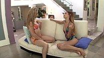 Lesbian girls lick each other
