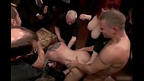 12968 Submissive girl reduced to a three holed whore on public. preview