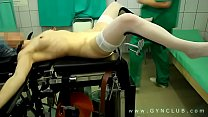 clitoral stimulation in the gynecologist's office