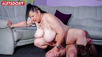 AMATEUR EURO - German Housewife Abby Titts Fucks With Her Neigbour In His House
