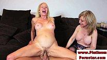 Erica Lauren and Nina Harthley ride cock thumbnail