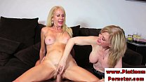 Erica Lauren and Nina Harthley ride cock thumbnail
