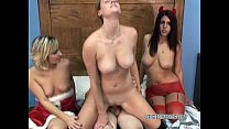 Redhead coed Mariah in a foursome