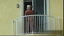 telugu heroins sex - couple fuck hard on a balcony thumbnail