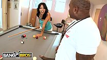 BANGBROS - Zoey Holloway Plays With Rico Strong's Big Black Pool Stick Dick