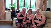 Giggly grannys sharing cock Preview