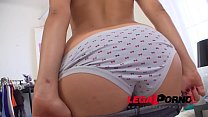 Big Booty Teen Adelle Gets Ass Fucked and Creampied