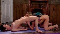 Private Yoga Instructor Gives Naughty Lesson - Serena Blair and Kali Roses