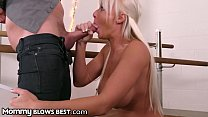 MommyBlowsBest Big Tit MILF Sucking Single's Dad's Big Dick
