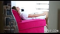 Alluring nubile delights with her naughty shlong engulfing