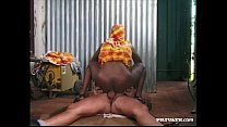 Ebony Beauty Bagheera Is Fucked by a Hard White Cock preview image