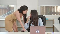 Hot girls having sex in the office