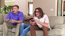 Brazzers - Jade takes two geeky cocks thumbnail