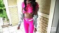 Ebony teen fuckdoll Kandie Monae gets smashed rough by Hookup Hotshot