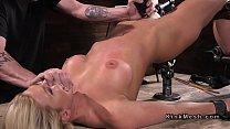 Big tits Milf slave gets toyed