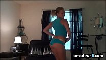 Cute Amateur Girl Stripping At Home