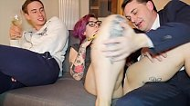 ALISON GUGLIELMETTI PUT A BANANA IN HER PUSSY IN FRONT OF MAX FELICITAS AND ANDR