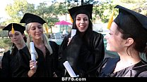 BFFS - Celebrating Graduation With Lesbian Threesome video