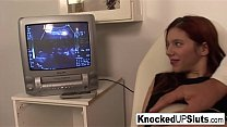 Knocked up redhead sucks and fucks in the docto...