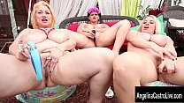 Triple Threat with Angelina Castro's Big Tit Friends!