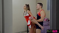 Bratty Sis - BFF Catches StepBro Creaming His S...