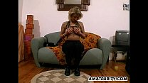 Amateur Milf toys and strokes a dick with cum on tits - sofia hayat porn thumbnail