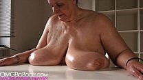 Mom shakes her plump tits
