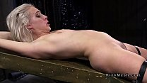 Bound in back arch position sube flogged