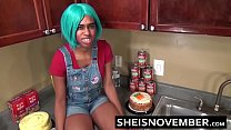 14879 Step Brother Talks Young Ebony Step Sister Msnovember Into Kitchen Sex & Blowjob preview