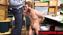 Hairy Criminal blackmailed into hard black cop cock- CriminalDick.com
