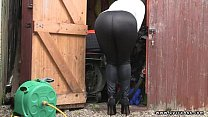 sexy ass British milf in lycra and spandex thumbnail