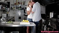 9703 Euro babe anally creamed in restaurant kitchen preview