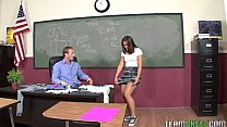 InnocentHigh Mischa Brooks brunette small tits teen hardcore school sex