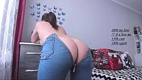 jiggly ass bouncing in tight jeans makes you cum & miss izzy porn thumbnail