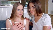Sapphic selfie by Sapphic Erotica - sensual lesbian scene with Alessandra Jane E