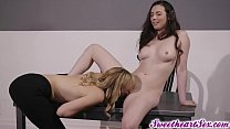 Milf Mona Wales teach Casey Calvert a lesson by eating her pussy!