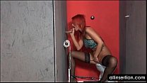 Gloryhole Redhead In Anal Fisting And Dildoing